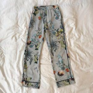 Printed Pajama Style Trousers